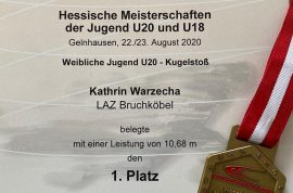 Kathrin Warzecha ist Hessenmeisterin
